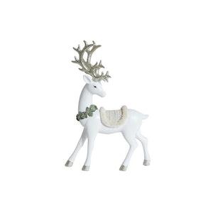 Hjort stående vit