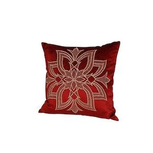 Kuddfodral blomma röd
