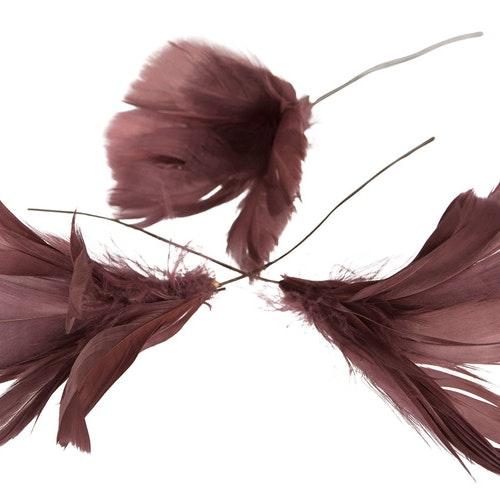 Påskfjädrar mörkrosa