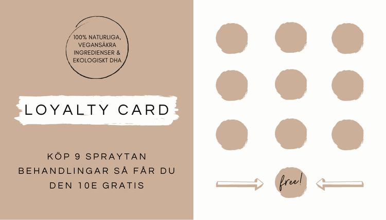 Loyalty card - 25x