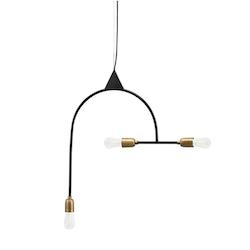 Lampa Arch Svart/mässing