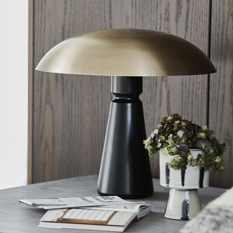Bord lampa Thane Svart/mässing