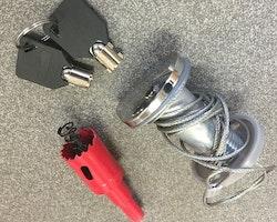 Nödöppningslås för garageportar med motorstyrning