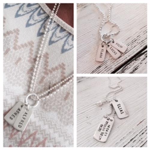 Lyxxa namnsmycke i silver