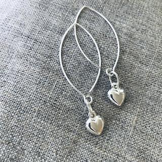 Hedda Hjärt örhängen - äkta silver