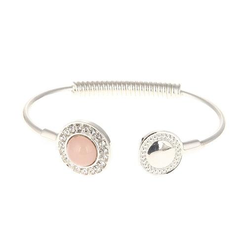 Underbart armbandi rosa och silver