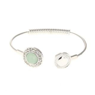 Underbart armband i grönt och silver