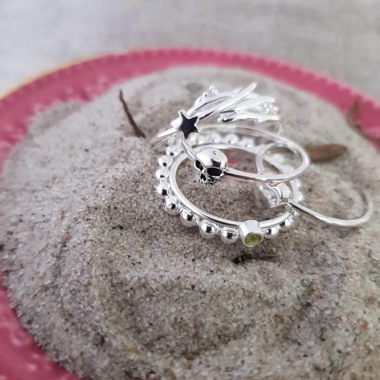 Kultrådsring i silver