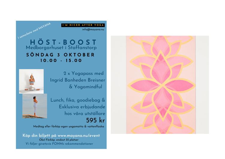 Höst-Boost Staffanstorp Medborgarhuset 3 Oktober 2021