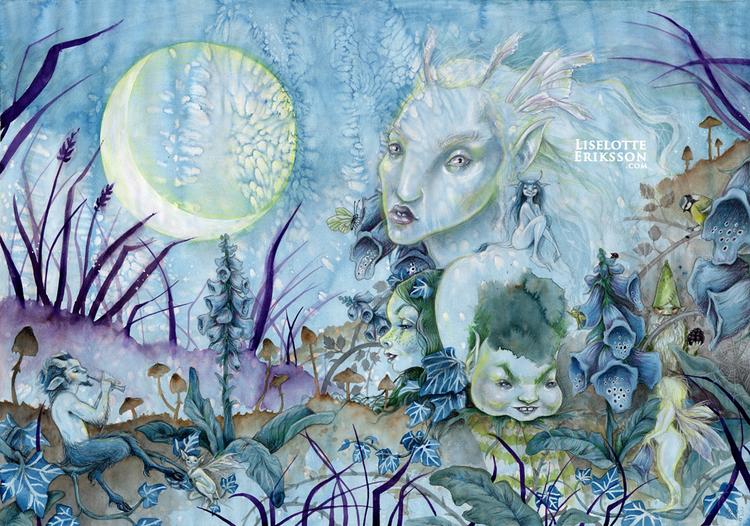 35 x 50 cm 'Moonlight' Print