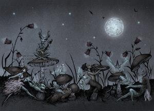 A3 'Moonlight Dance' Print