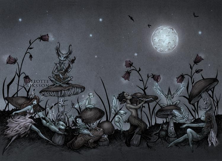 'Moonlight Dance' Print
