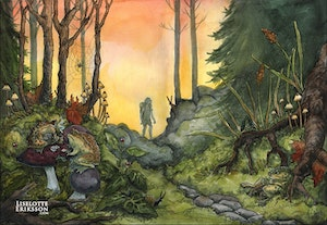 'Tuesday Evening in The Woods' Print