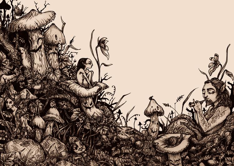 'Mushroom Music' Print