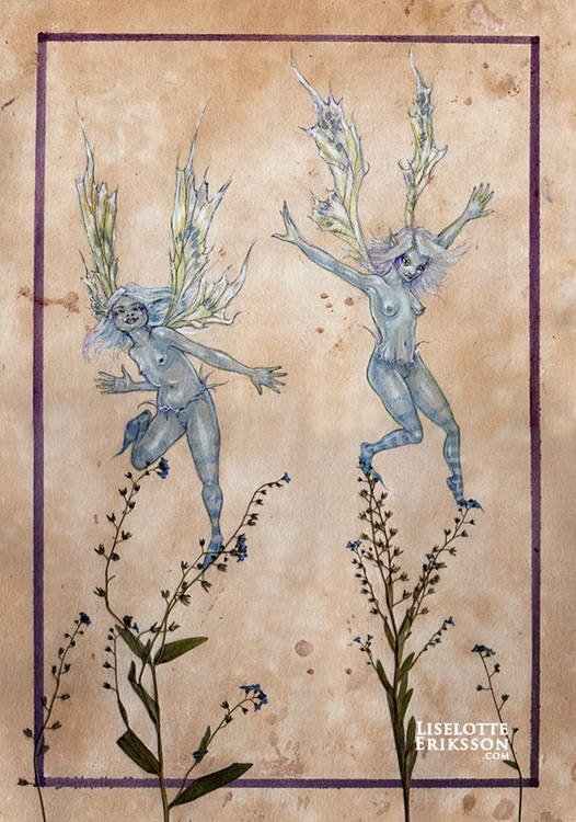 'Forget-me-nots' Print