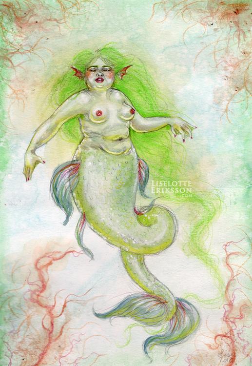 'Seaweed Hair' Print