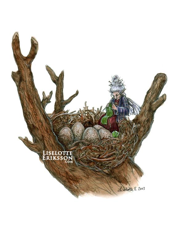 'Eggwatcher' Print