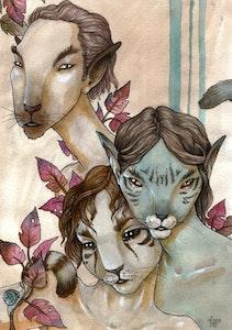 'Cat Boys' Print
