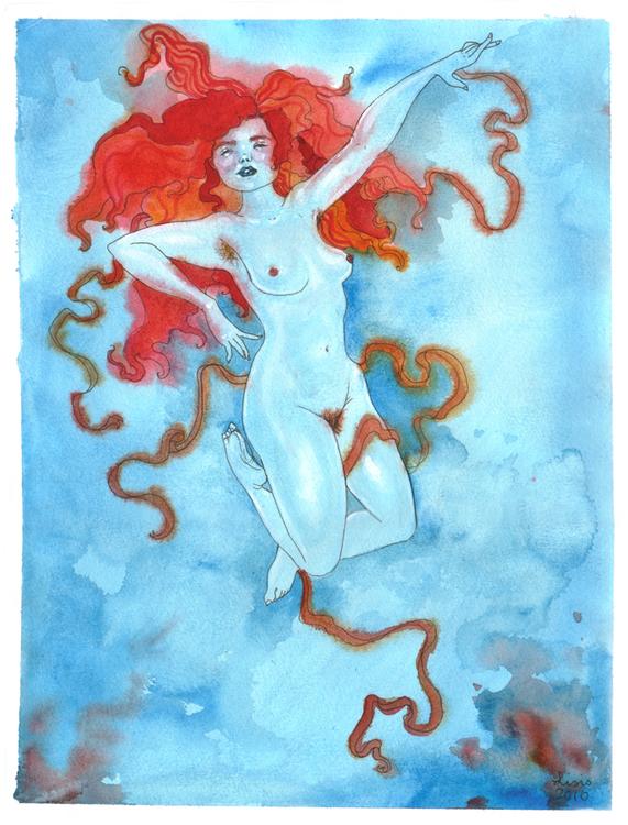 'Blue Woman' Print