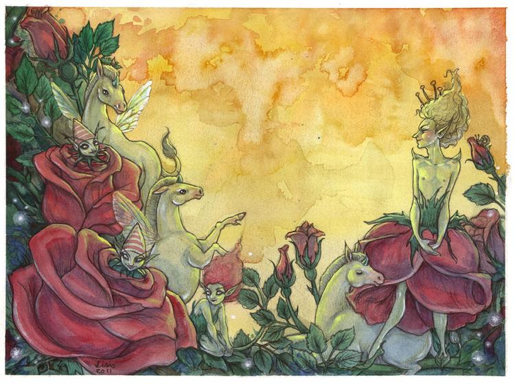 'A Rose Dream' Print