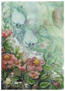 'Pink Flowers' Print
