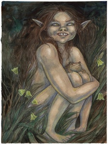 'Fae Child With Toad' Print