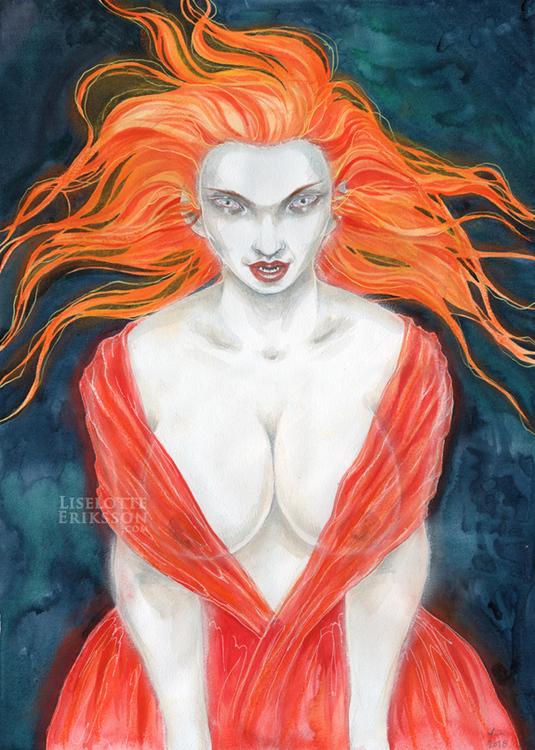 'Red Vampire' Original Painting
