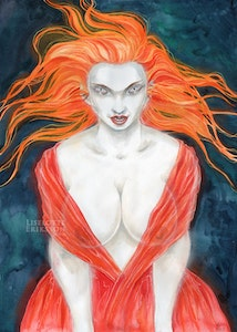 'Red Vampire' Original Painting