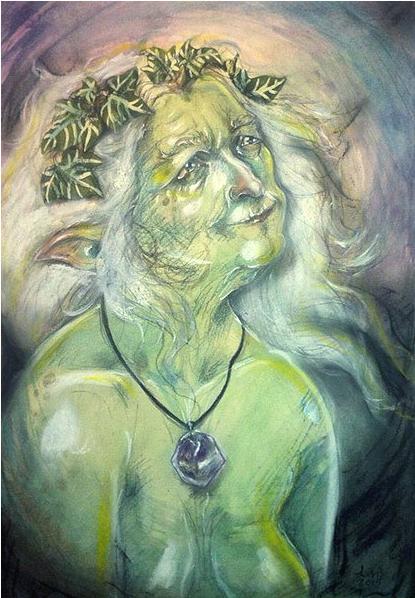 'Faerie Crone' Original Painting