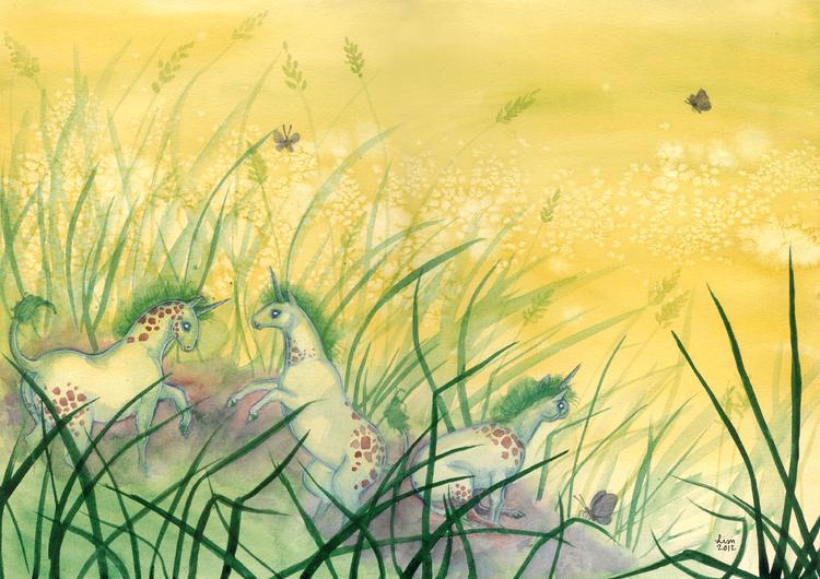 'Grass Frolic' Original Painting