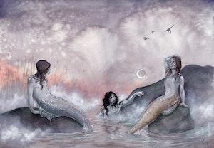 'Moonrise' Original Painting