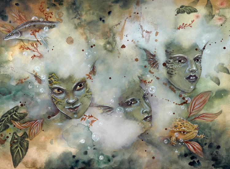'Murky Waters' Original Painting