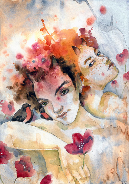 'Flower Fauns' Original Painting