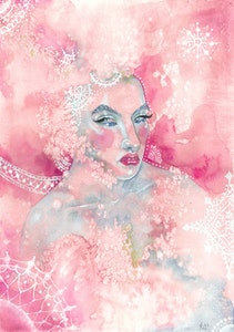 'Pink Frost' Print