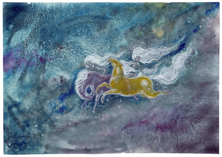 'Space Horses' Original Painting