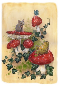 'Mushroom Friends' Print