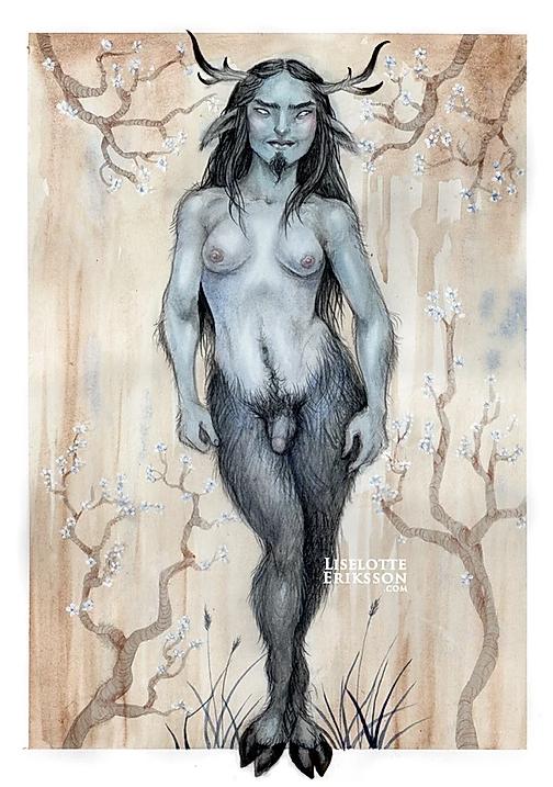 'Blue Faun' Print
