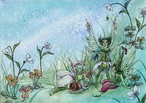 'Snail Ruffle' Original Painting