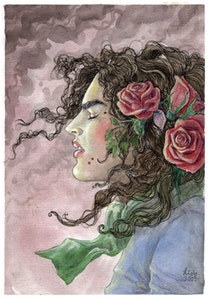 'Beauty Marks & Roses' Original Painting