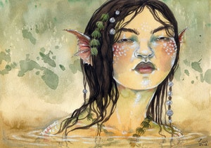 'Freshwater Mermaid' Original Painting