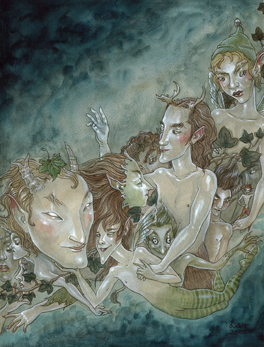 'A Host of Fae Men' Original Painting