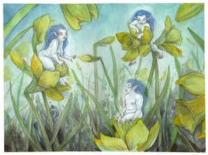 'Daffodil Dwellers' Original Painting