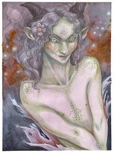 'Lilac Faun' Original Painting