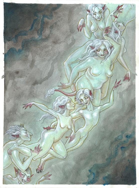 'Faerie Host' Original Painting