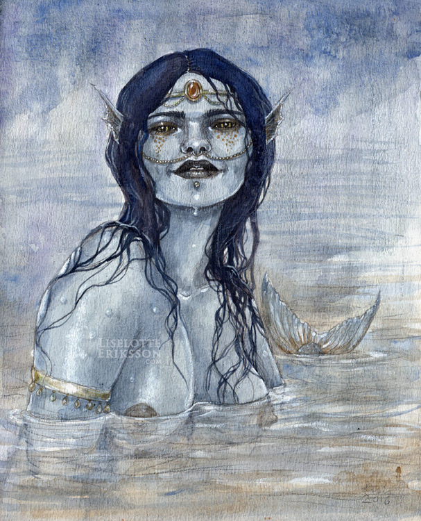 'Blue Mermaid' Print