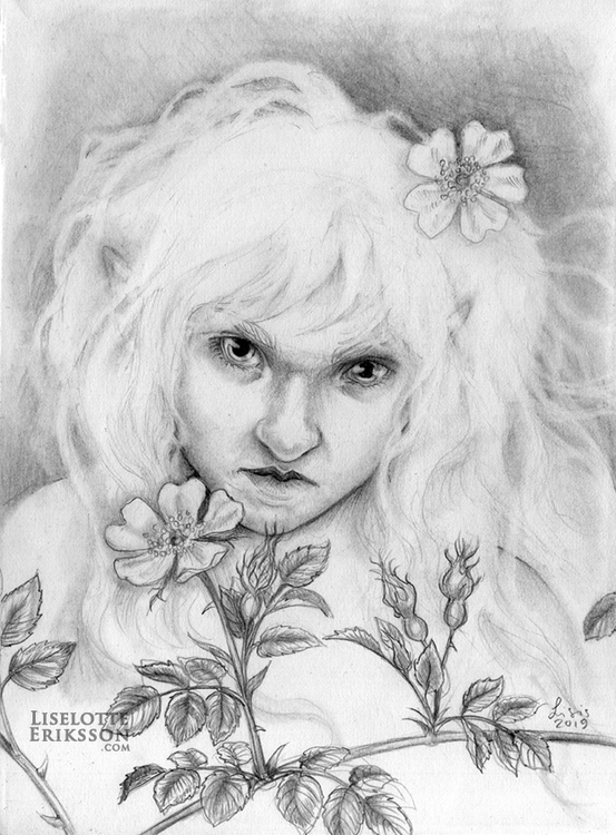'Dogrose Girl' Print