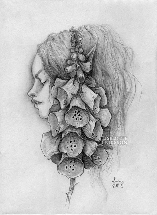 'Foxglove Girl' Print