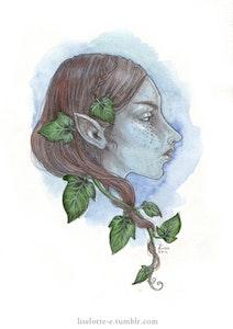 'Blue Elf' Original Painting