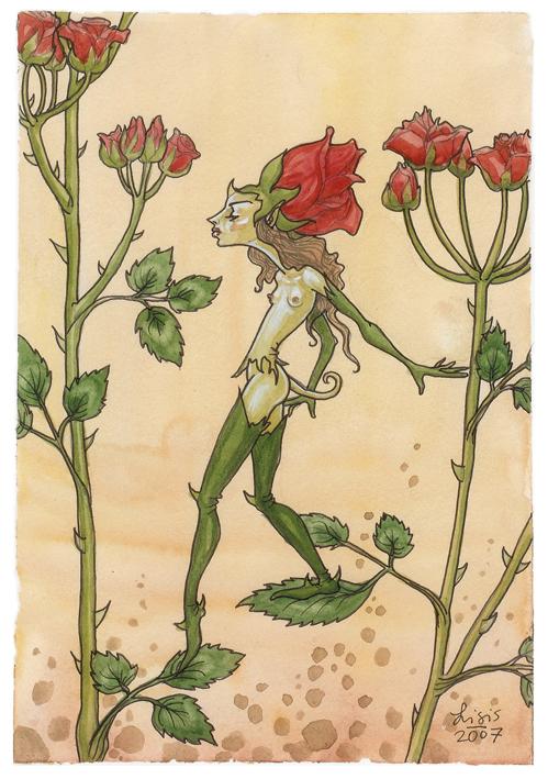 'Rose Creature' Original Painting
