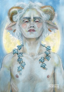'Full Moon Faun' Original Painting